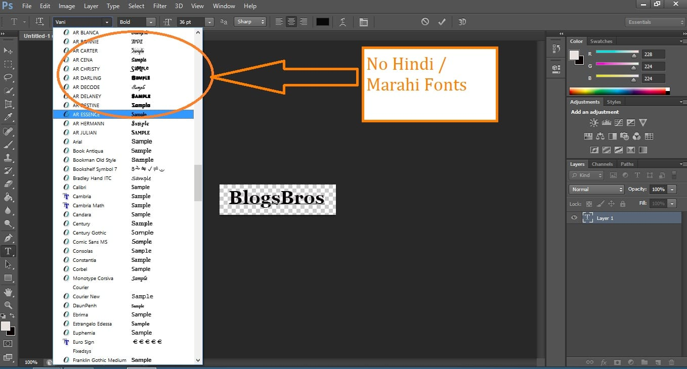 Download Hindi, Marathi Stylish Fonts for Photoshop, Corel Draw