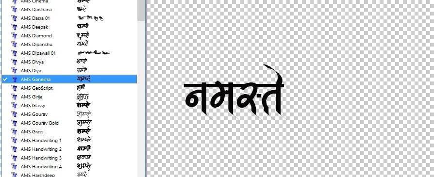 Marathi font for photoshop